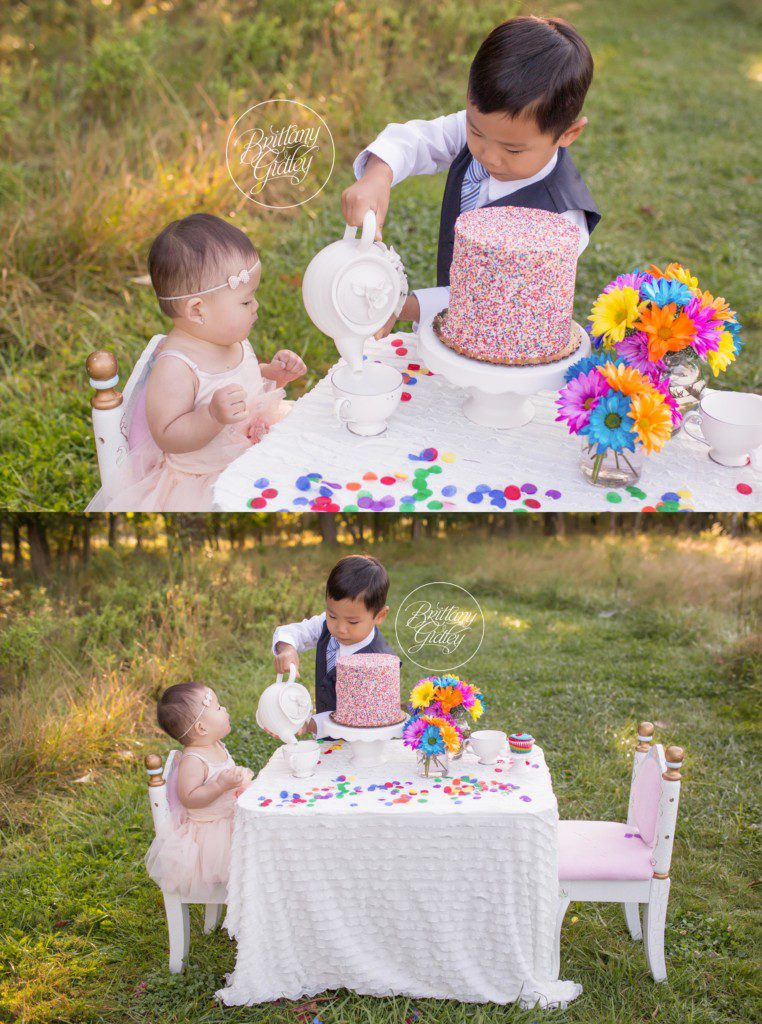 Rainbow Dream Session | Tea Party | Baby Photography Ideas