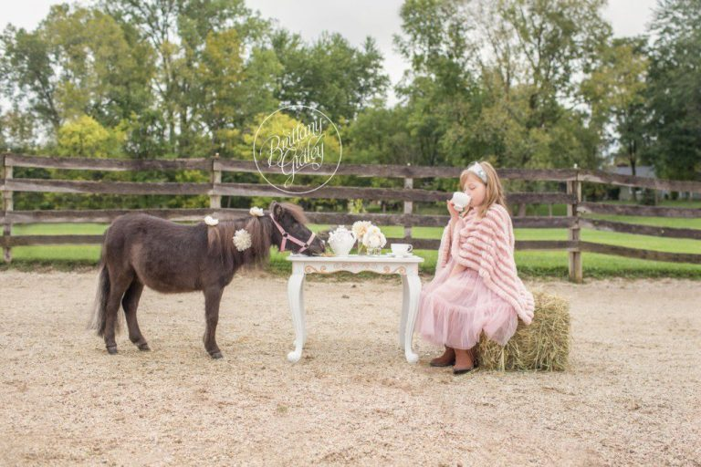 Tea Party With Pony | Pony Farm | Paper Flowers | Ponies | Equine Photography | Cleveland | Start With The Best | Dream Session | Photo Shoot