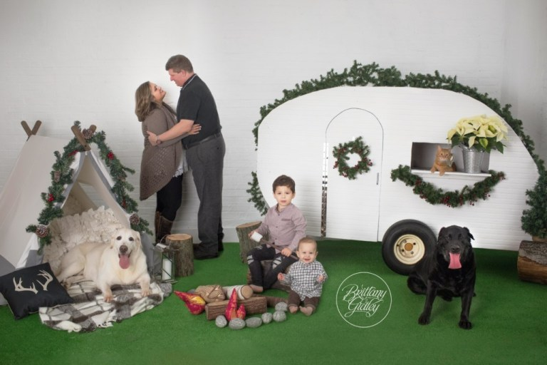 Christmas Card With Pets | Christmas Photographer | Studio