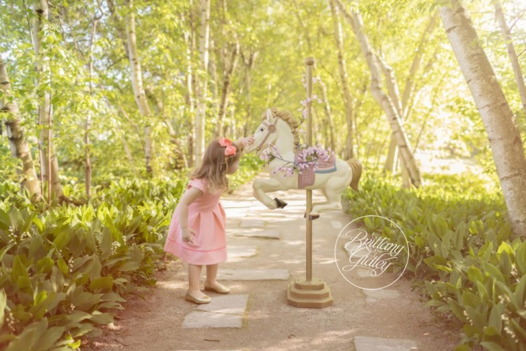 Carousel Horse | Whimsical Child Photography | 3 Year Old Photography Ideas