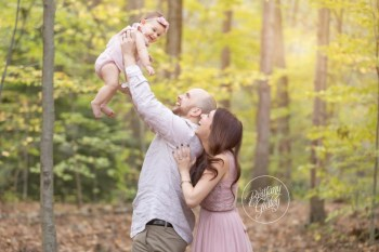 Chagrin Falls Baby Photographer | Ava 8 Months | South Chagrin Reservation