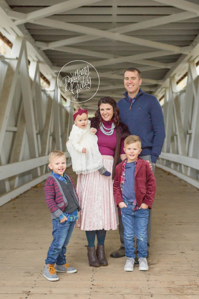 Akron Baby Photographer | Nora 12 Months | Everett Road Covered Bridge
