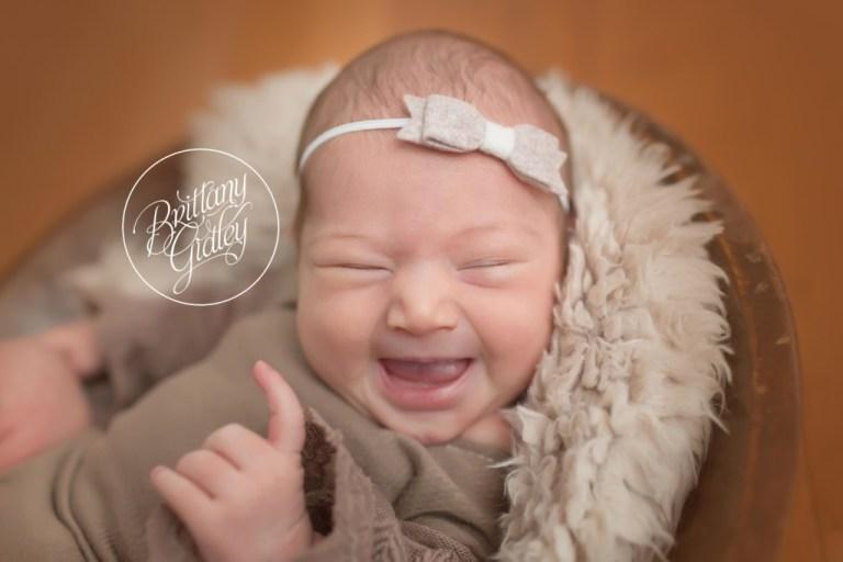 Medina Newborn Photo Shoot | Medina Newborn Photography | Start With The Best | Newborn Smiles
