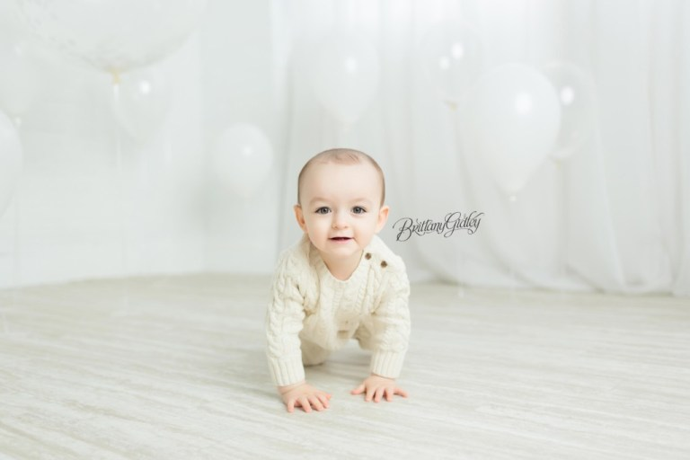 All White Baby Session | Ohio Photographer | Sam 12 Months