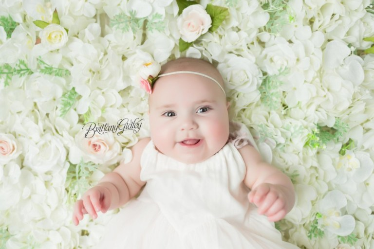 Baby photography flower floor 6 month old baby photography
