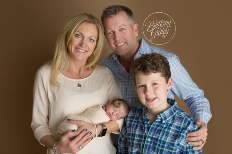 Bay Village Newborn Photographer | Bay Village Ohio Newborn Photography | Start With The Best | Newborn Baby Girl With Family
