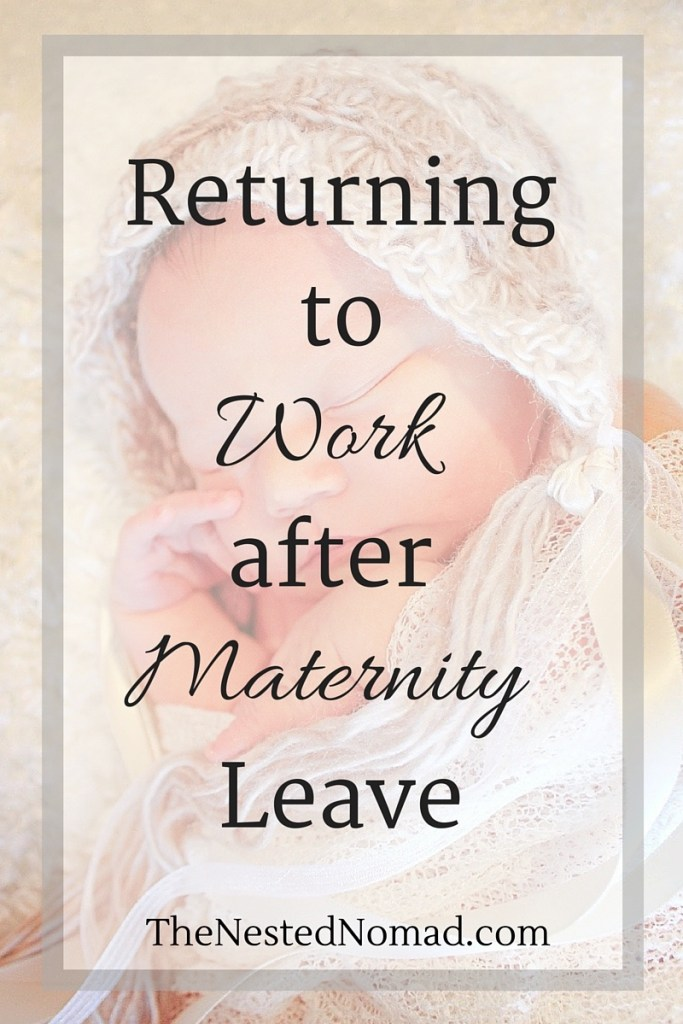 Returning to work after maternity leave stirs up all kinds of emotions. This is one mom's reflection on the guilt and grieving she experienced when she went back to work.