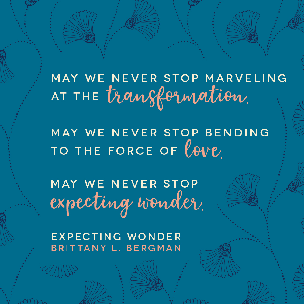 From Expecting Wonder, a heart-level guidebook for expectant mothers: Pregnancy is about more than the biological reality of growing a human. It's about how each moment shapes us as we become mothers. #expectingwonder https://amzn.to/39QN3SR