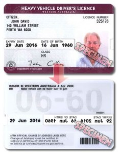 Australian Driver Licence WA Commercial