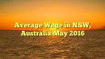 Average Wage in NSW, Australia May 2016