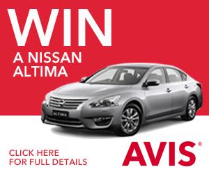 Avis Win a Nissan Altima ST