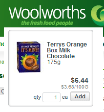 Terry's Chocolate Orange at Woolworths