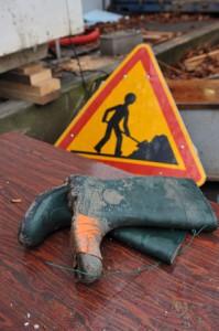 les pieds dans le chantier