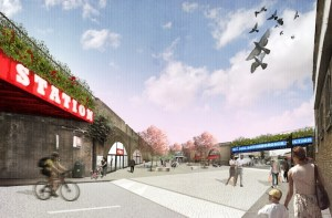 MASTERPLAN: An artist's impression of what Loughborough Junction could look like.