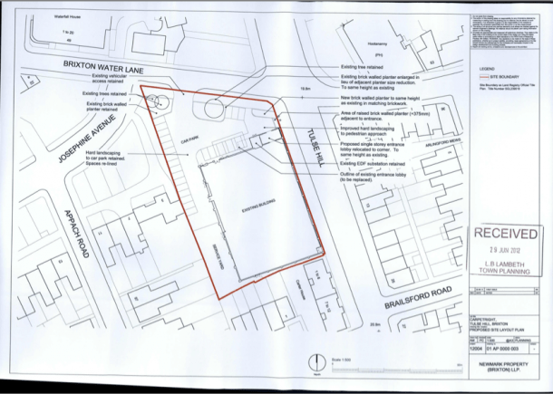 Planning permission for a new entrance to the building was granted in August last year