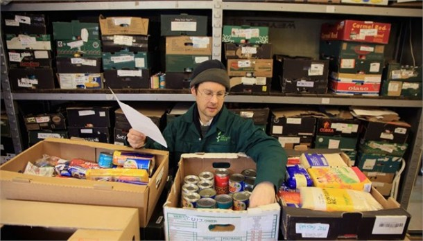 A volunteer at Brixton foodbank