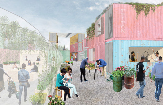 Artists' impression of the grow:Brixton project