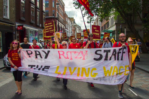 Ritzy staff protesting in 2014