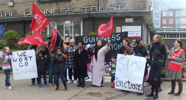 Guinness Trust protest