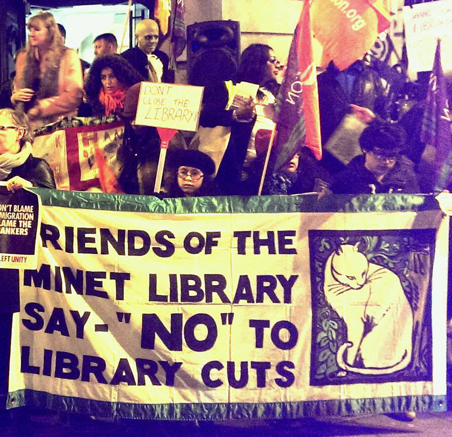 Friends of Minet library protest
