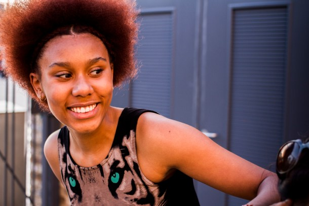 13-18 Drama Group participant  Maya Willis - one of the I Am A Promise company. Photo by Anthony Woodgate