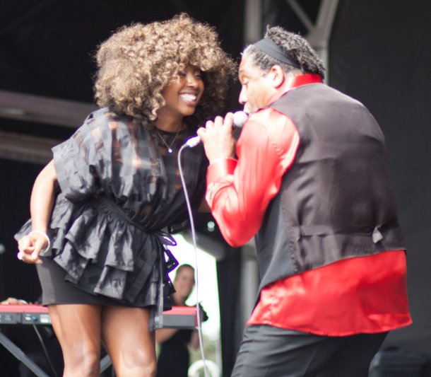Atlantic Soul Orchestra perform on the main stage on Saturday