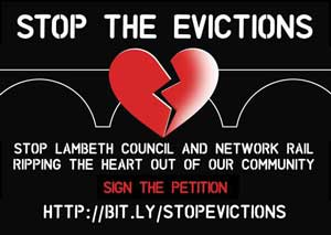 Stop The Evictions advertisement
