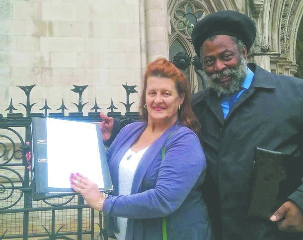 Club 414 leaseholders Louise Barron and Anthony Pommell outside the High Court