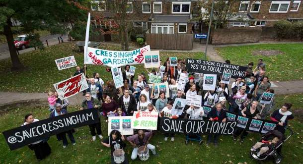 Cressingham residents protest