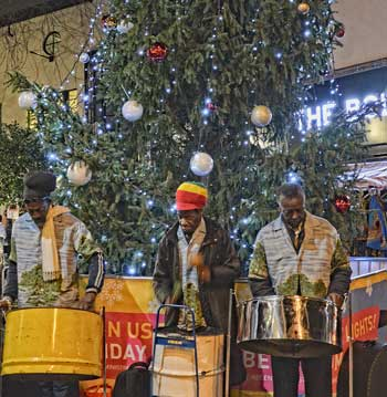 Divine Steel at Brixton Christmas lights ceremony 4 December 2015