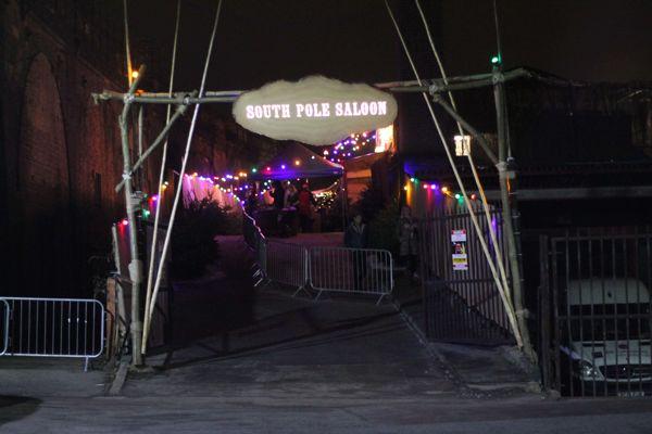 South Pole Saloon gate