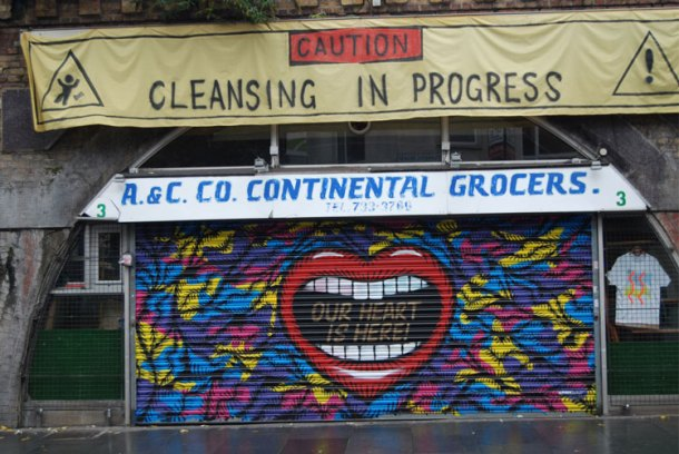 The former A&C Deli on Atlantic Road, now the home of the Brixton Pound