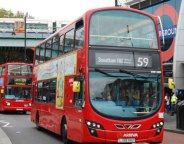 Buses outside Brixton Tube station
