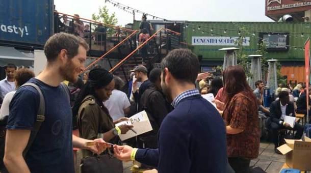 Crowds at Start-up Brixton