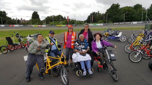 Wheels for Wellbeing at Dulwich velodrome