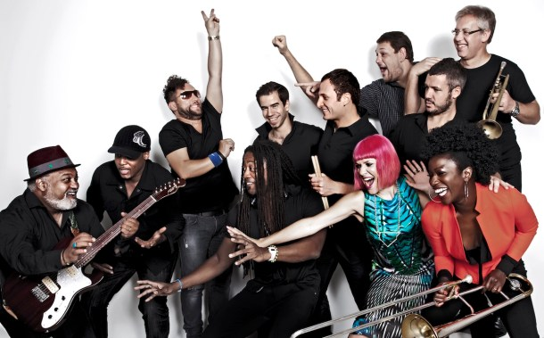 Incognito Band, with founder Bluey on the far left