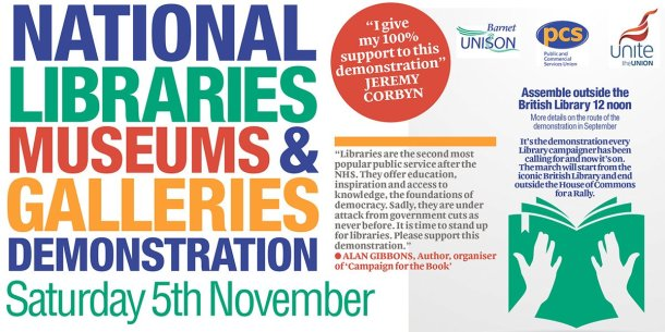 Libraries protest flyer