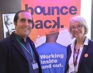 Bounce Back CEO Fran Findlay with Pop Brixton commercial director Phillippe Castaing at the launch