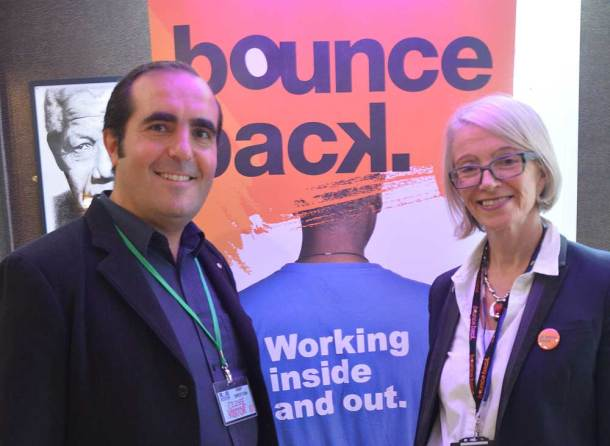 Bounce Back CEO Fran Findlater with Pop Brixton commercial director Phillippe Castaing at the launch