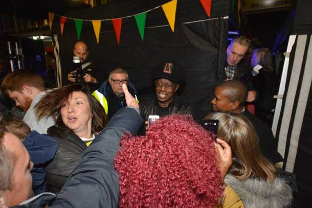 Eddy Grant stayed behind for signings and selfies