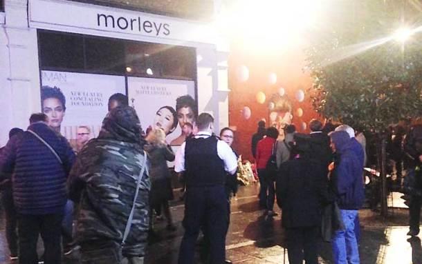 Police outside Morleys