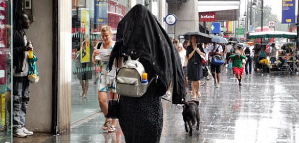 A rain storm on Brixton's hottest ever day in July while