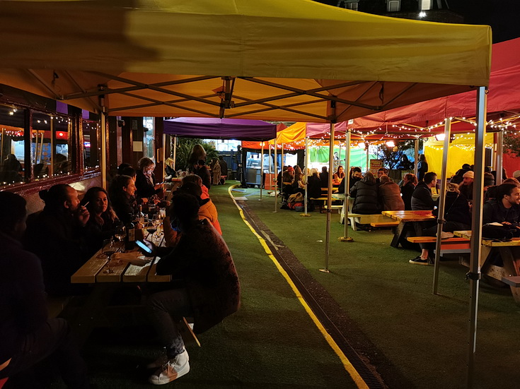 In photos: Saturday night out in Brixton under High Tier Coronavirus Restrictions, Sat 17th Oct 2020