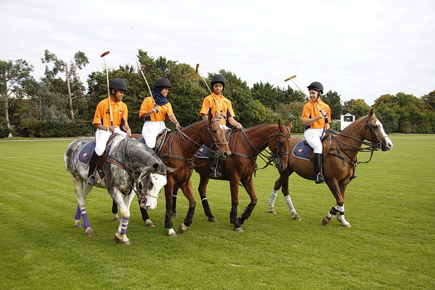 Brixton youngsters from Ebony Horse Club play polo at charity event, September 2017