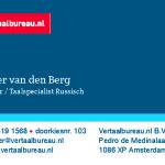 Vertaalbureau.nl visitekaartjes totaal 1