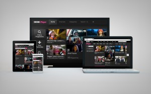 iPlayer across four screens light background