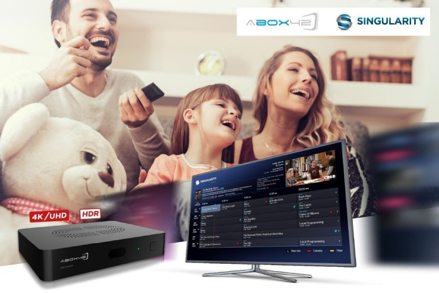 f239eb1970a2 ABOX42, the German supplier of OTT, IPTV and hybrid DVB set-top boxes, has  teamed up with US-based TV solutions provider Singularity.