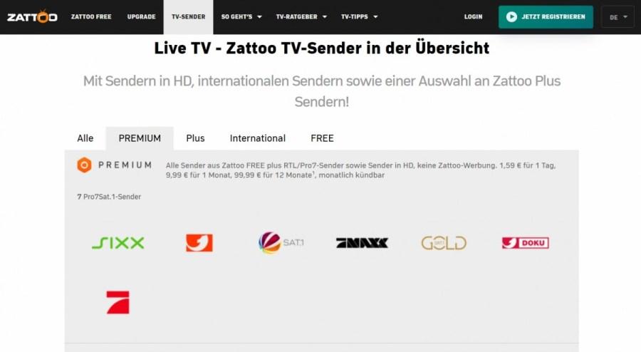 Zattoo adds ProSiebenSat 1 HD channels