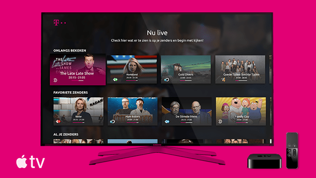 T-Mobile NL launches TV Anywhere with Apple TV