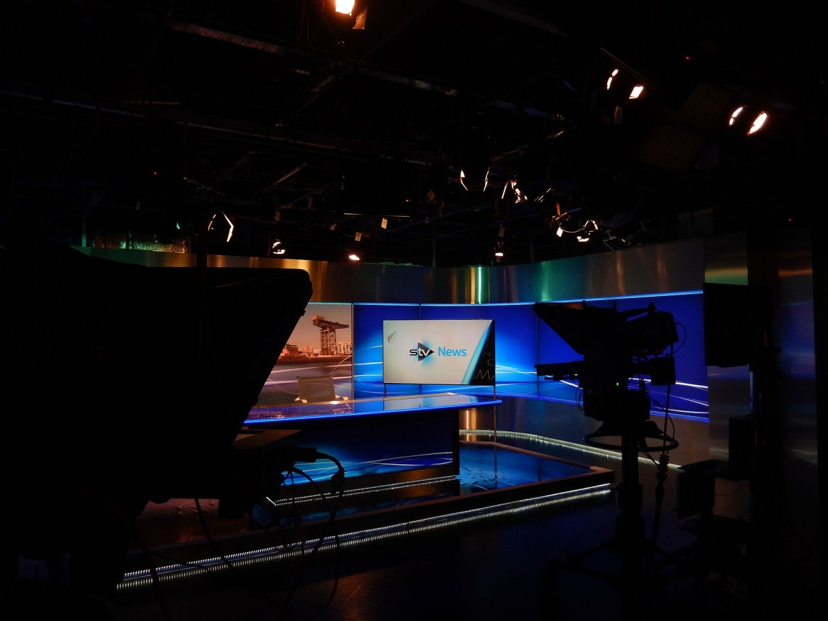 STV News Studio in STV Pacific Quay Studios, Glasgow.